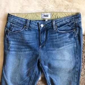 Paige Denim Kylie Skinny Crop Jeans, distressed